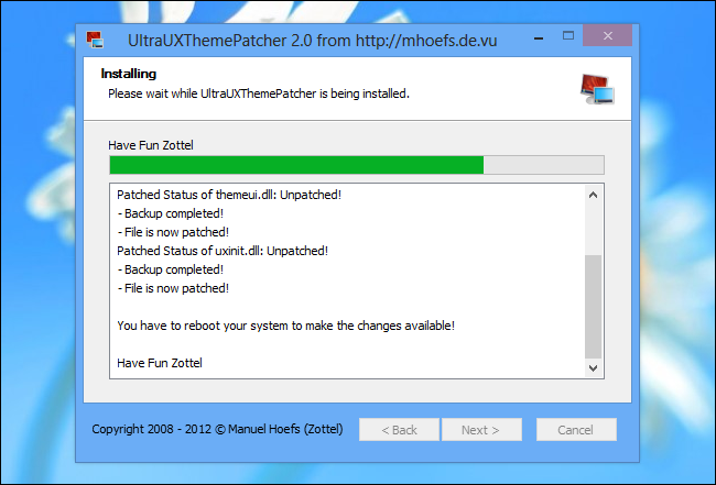 UltraUXThemePatcher for Windows 8
